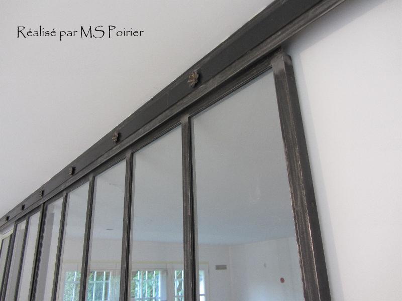 Cloison verre style atelier d 39 artiste finition ferronnerie - Fenetre style atelier d artiste ...